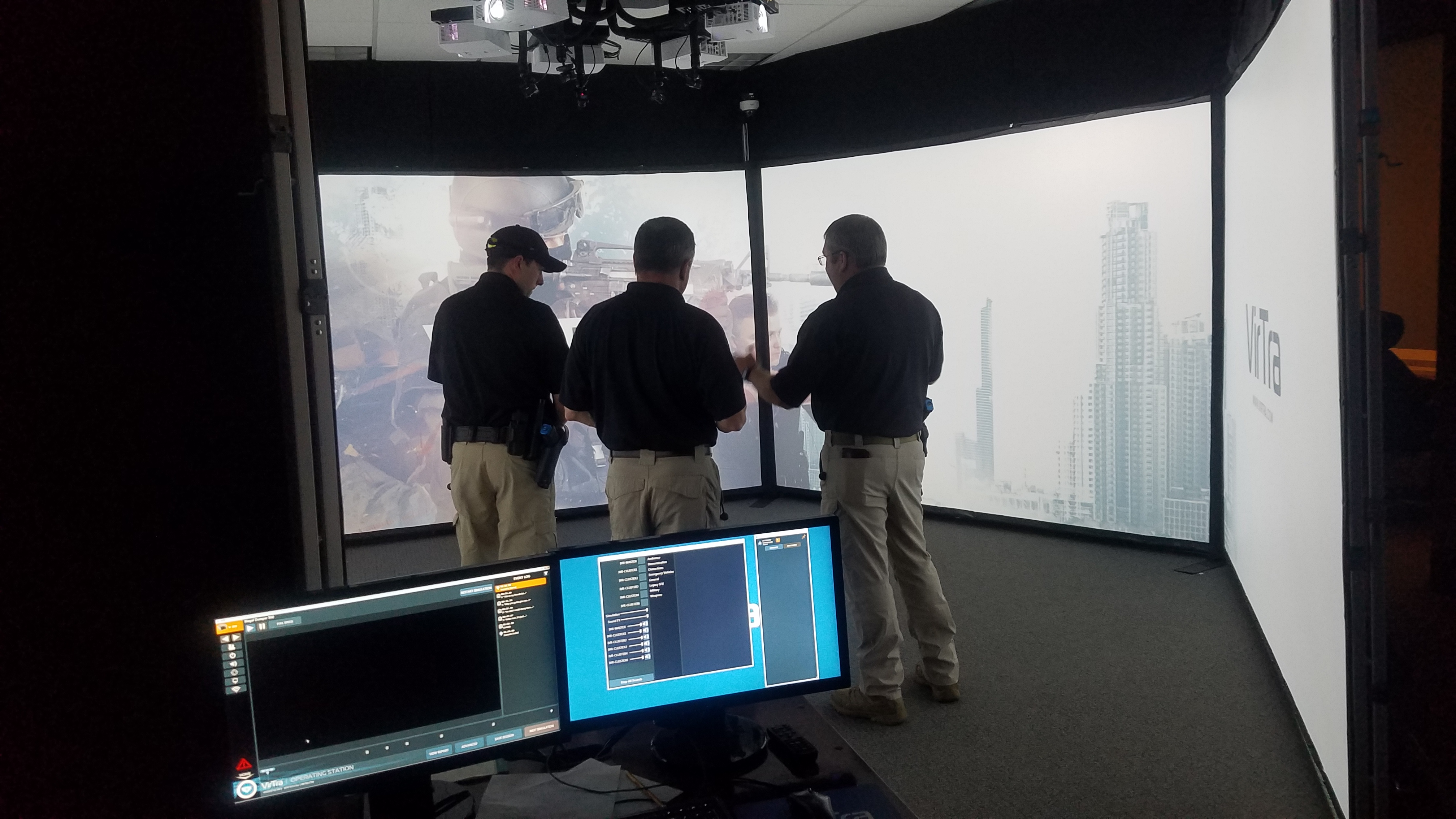 Police Officers in Simulator